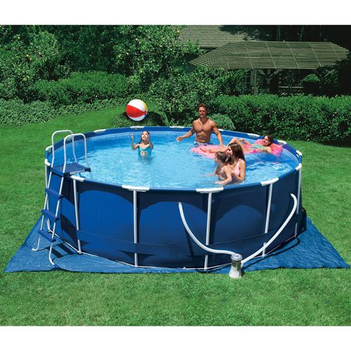 intex 15 x 48 metal frame swimming pool