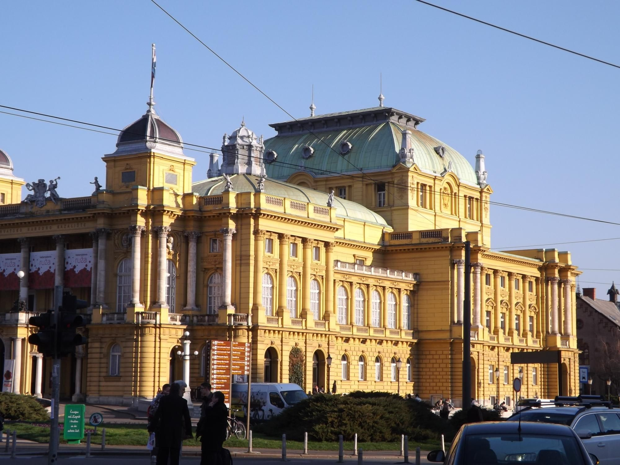 Croatian National Theatre In Zagreb Zagreb National Theatre Zagreb Croatia