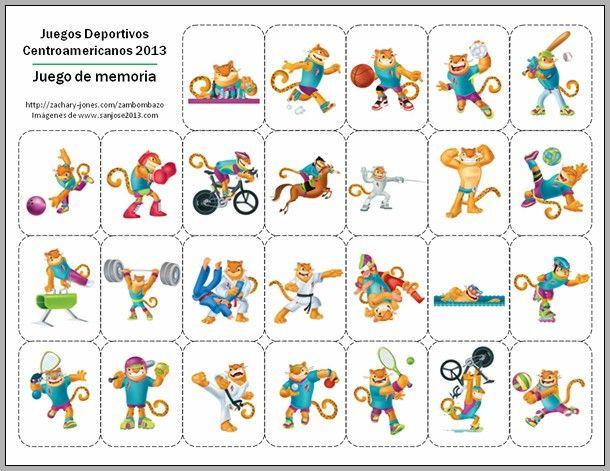 Los Deportes Y Los Juegos En Inglés En Listas E Imágenes: Deportes -- FREE To Print (may Want To Enlarge