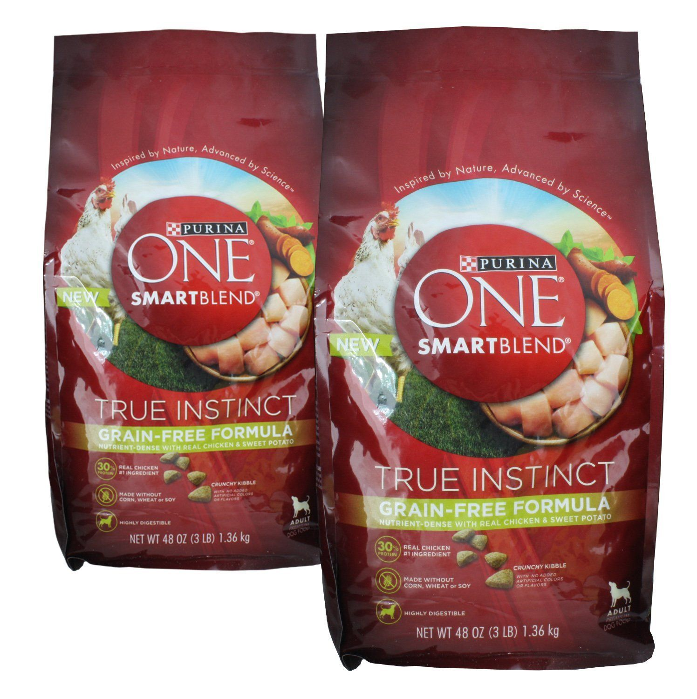 2 Bags Purina ONE SmartBlend Dry Dog Food True Instinct Grain Fee