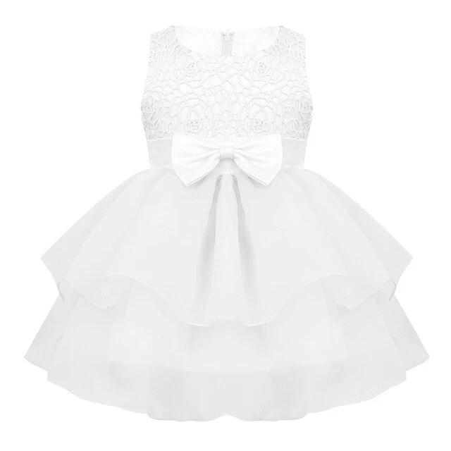 Sleeveless baby lavender lace dress