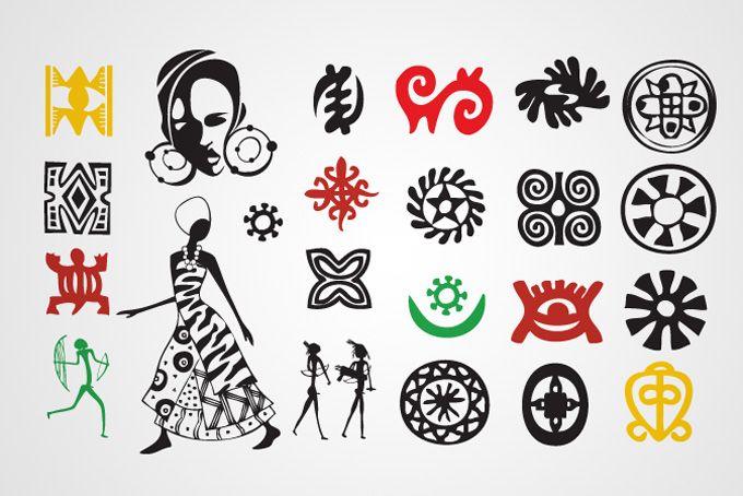African Art Symbols Symbolemblem Pinterest Mosaic Art