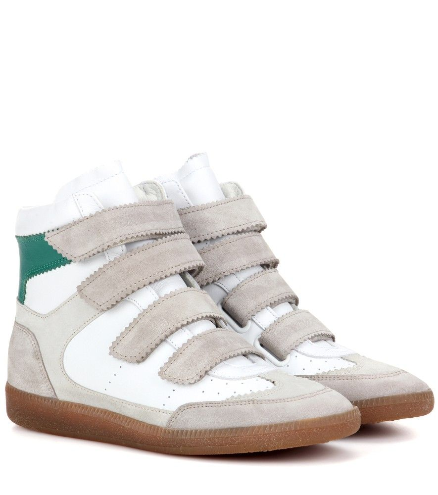 Bilsy leather high-top sneakers