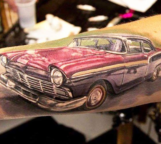 Oldschool Car Tattoo By Alexander Romashev Tattoos Ideas Pinterest
