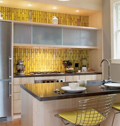 Retro Yellow Tiki Tiles Almost Look Like Bamboo By Keeping The Rest