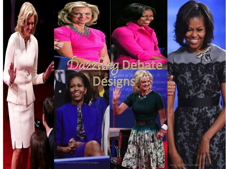 Michelle and Ann definitely favored similar colors at this year's debates!