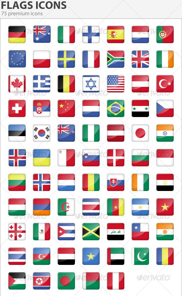 Ultimate Collection of National Country Flag Icon Sets  Flag