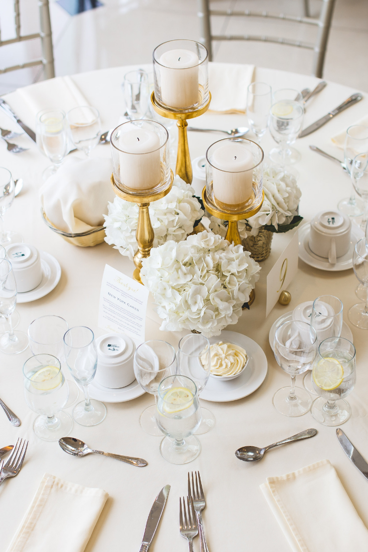 Dekorationsideen für runde Tische