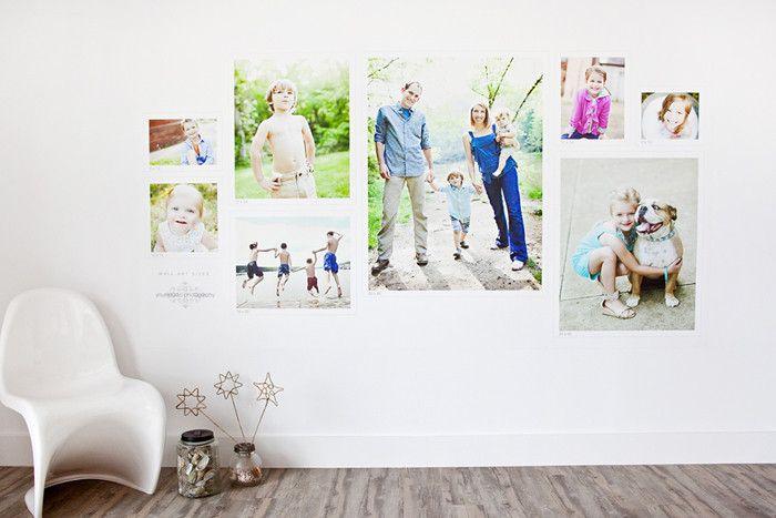 Photography Studio Size Sample Wall Display | Design Aglow