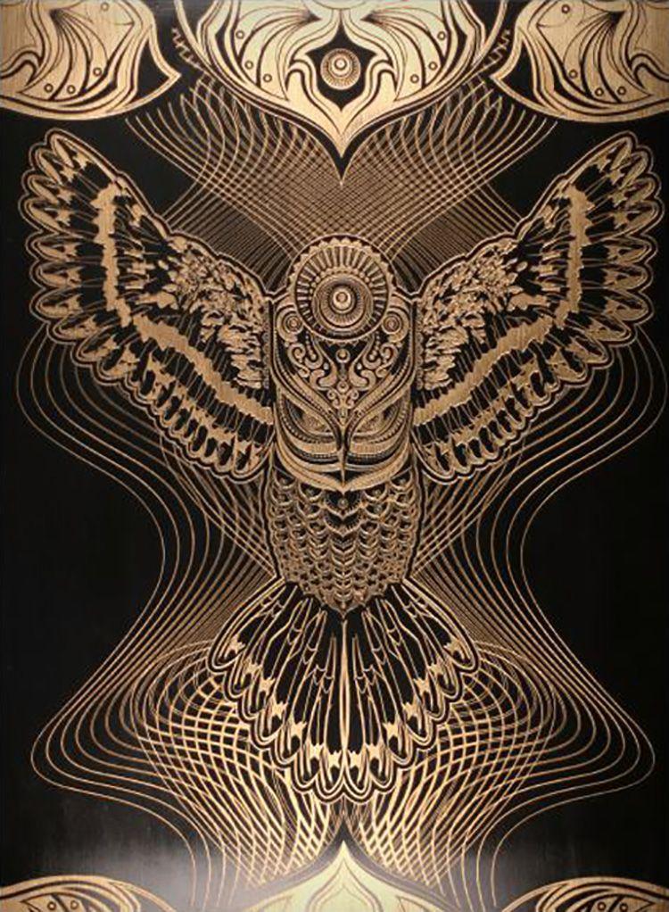 """""""Owlage"""" par Chris Saunders Artistas"""