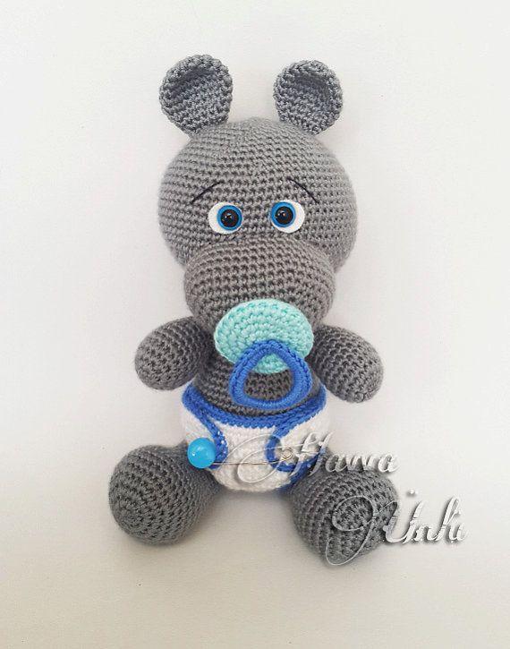Pattern Baby Hippo Von Havvadesigns Auf Etsy Häkeln Pinterest