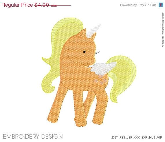 30% OFF SALE Unicorn Embroidery design instant download, machine embroidery, many size, many formats PGEMPK123