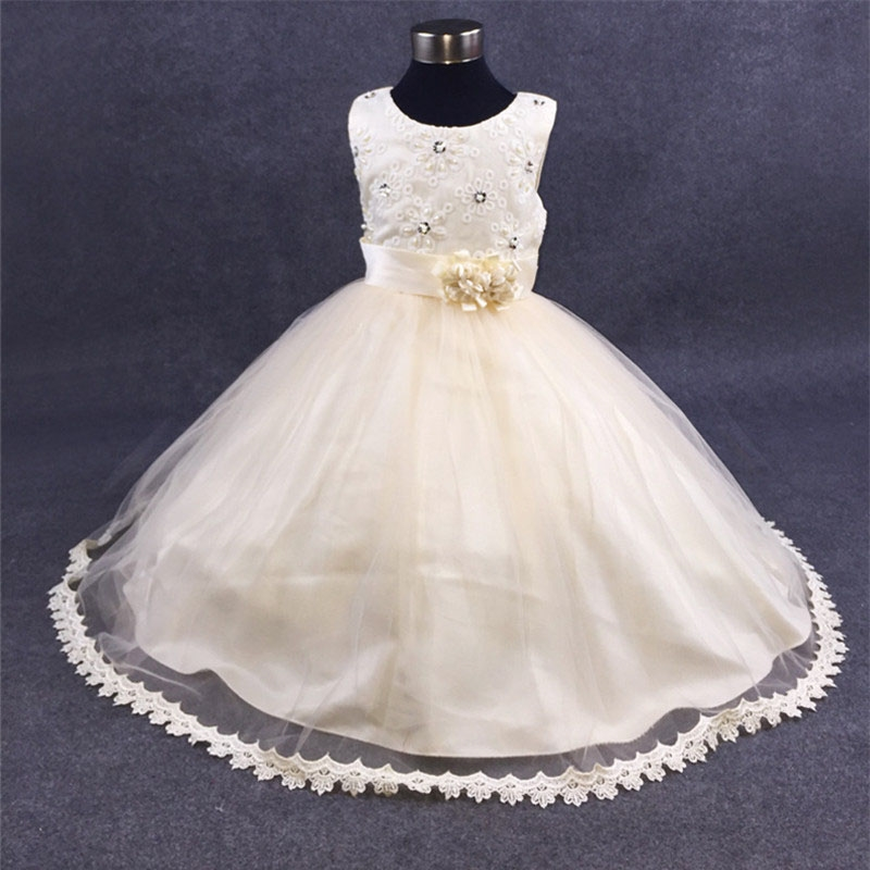 19.95$  Buy now - http://alii9r.shopchina.info/go.php?t=32805717833 - Summer Formal Pearl Pattern Wedding Flower Girl Dresses Pageant Evening Party Dresses 12 Year Teenager Princess Vestido Clothes 19.95$ #buyininternet