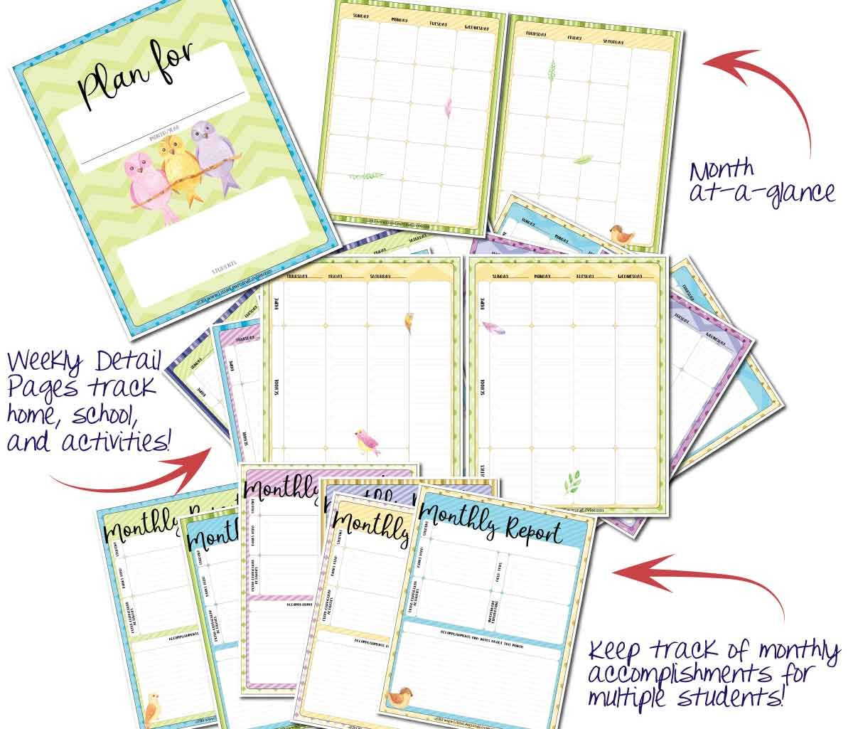 Monthly Homeschool Planner