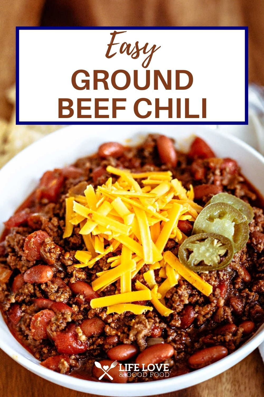 One Of The Best Ground Beef Chili Recipes Ever Seasoned With Chili Powder And Ground Cumin Which In 2021 Ground Beef Chili Recipes Beef Chili Recipe Ground Beef Chili