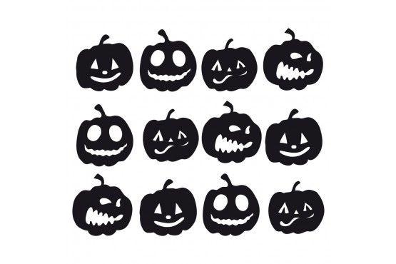 Kurbis Gesichter Halloween Schneidedatei Kostenlos Basteln Halloween Halloween Halloween Silhouetten