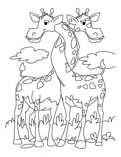 Loving Giraffe Coloring Pages Thema S Pinterest Giraffe