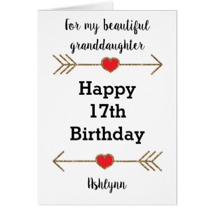 Red And Gold Glitter 17th Birthday Granddaughter Zazzle Com 16th Birthday Card Happy 16th Birthday Happy 17th Birthday