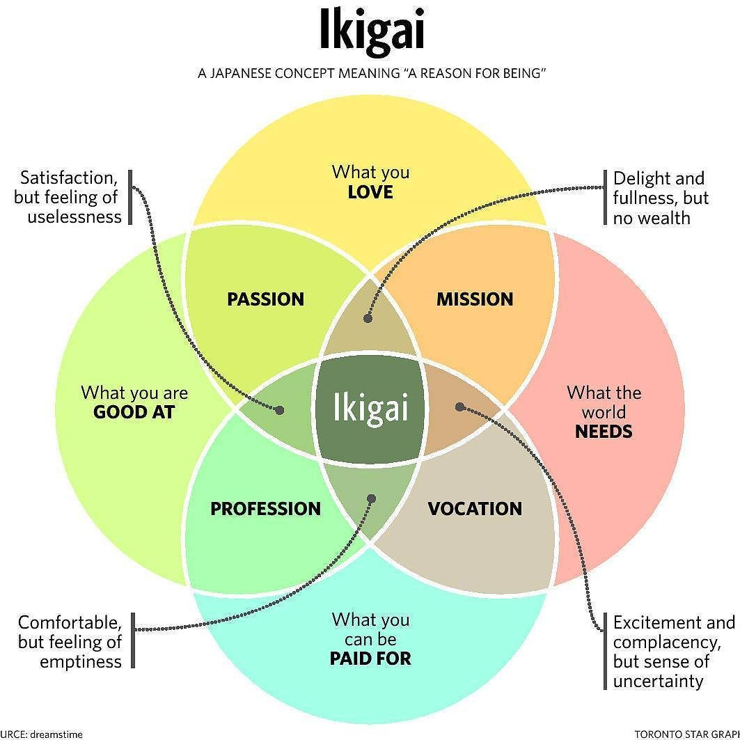 Here S A Chart To Better Plan Out Your Life Ikigai