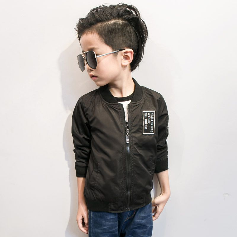 870d44ec1 2017 Spring Autumn Jackets for Boy Coat Bomber Jacket Black Blue ...