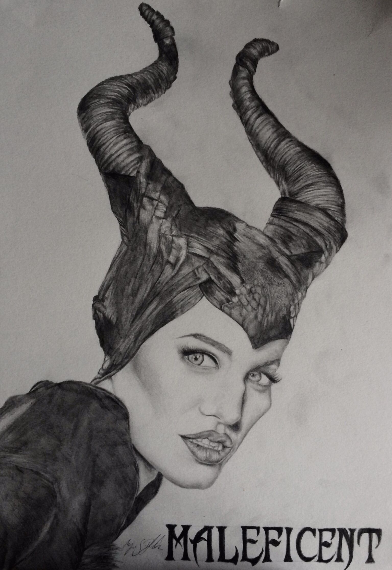 Drawing of Maleficent (Angelina Jolie)