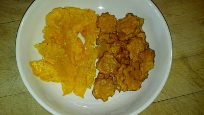 Butternut Squash and Sweet Potato Chips.  Healthy, Vegan, Low G.I., Gluten-Free