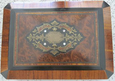 Napoleon 111 Marquetry & Inlaid French Jewelry Box
