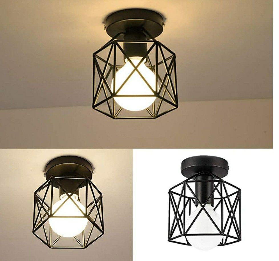 Industrial Lighting In 2021 Farmhouse Flush Mount Light Industrial Ceiling Light Fixtures Rustic Flush Mount Lighting