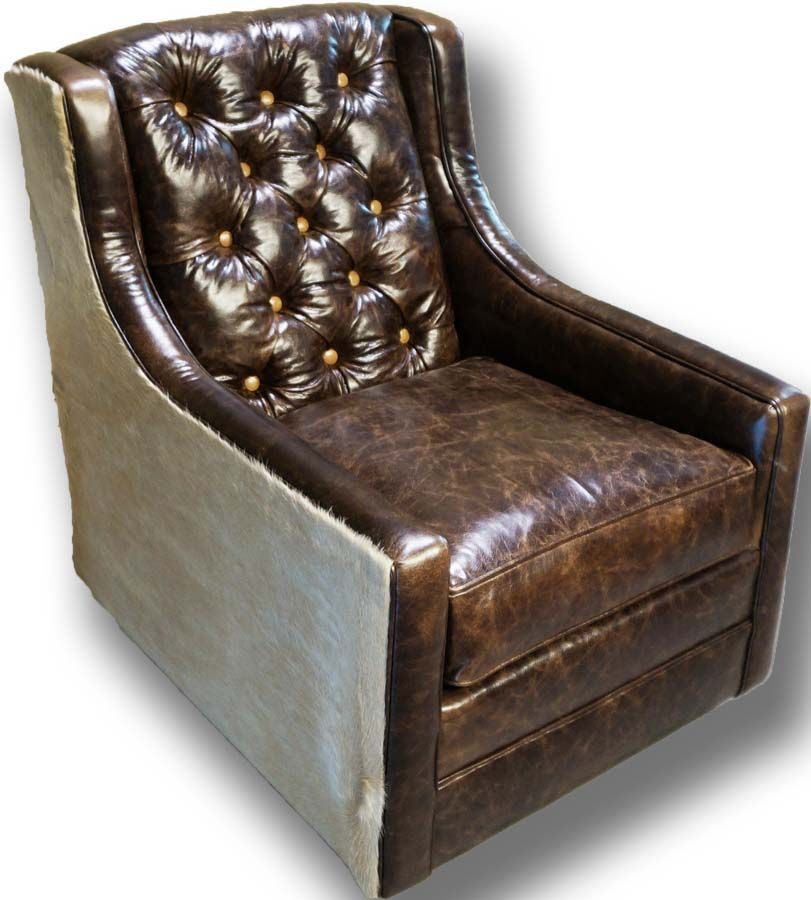 Best Snowmass Tufted Swivel Glider Western Accent Chairs 400 x 300