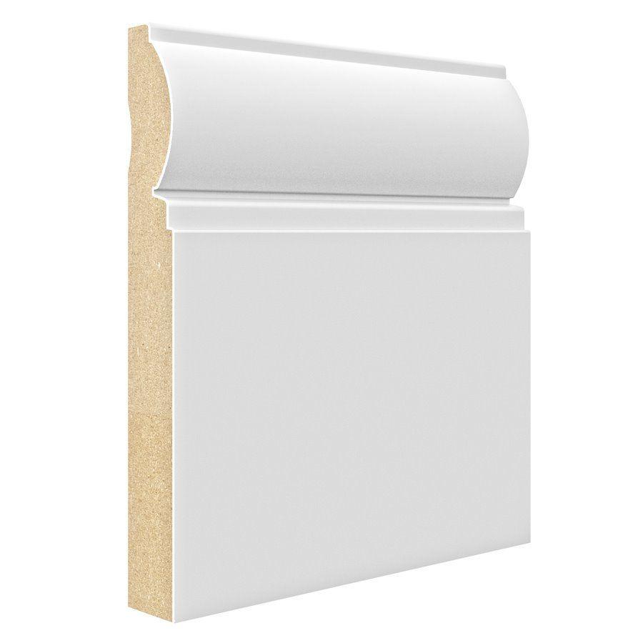 3 4 X 7 1 4 X 8 Ft Primed Mdf Baseboard Moulding Baseboards