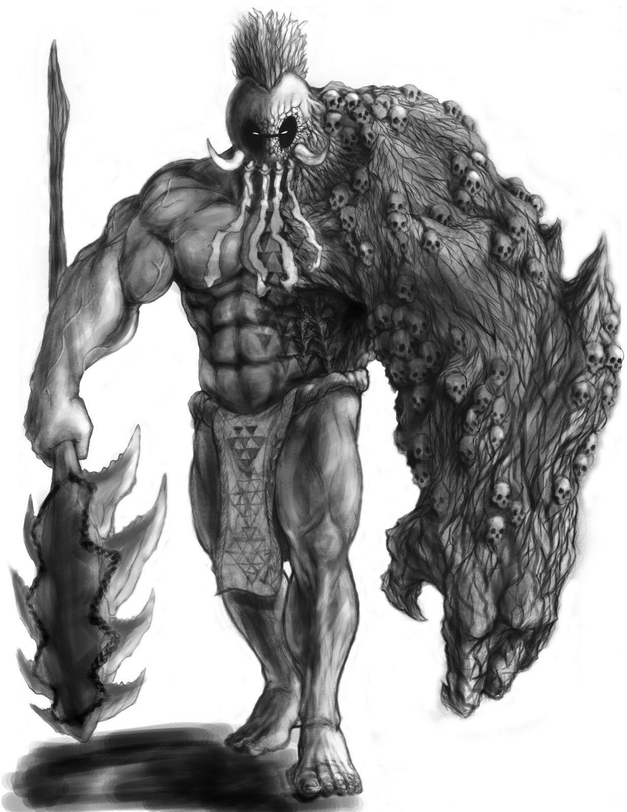 Hawaiian Warrior Drawing : hawaiian, warrior, drawing, Ikaika, Hawaiian, Warrior, Drawing, Gallery, Drawing,, Polynesian
