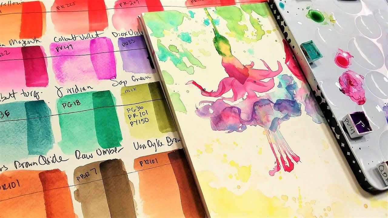 Qor Watercolor Review Golden Artists Watercolors Youtube