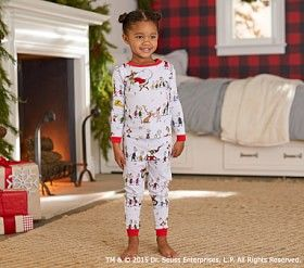 be3582335423 The Grinch™ Cotton Tight-Fit Pajama  Pottery Barn Kids