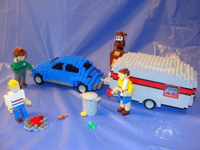 ELMHURST LEGO STORE BRAND RIBBON MODEL-CAMPER | Lego store and Legos