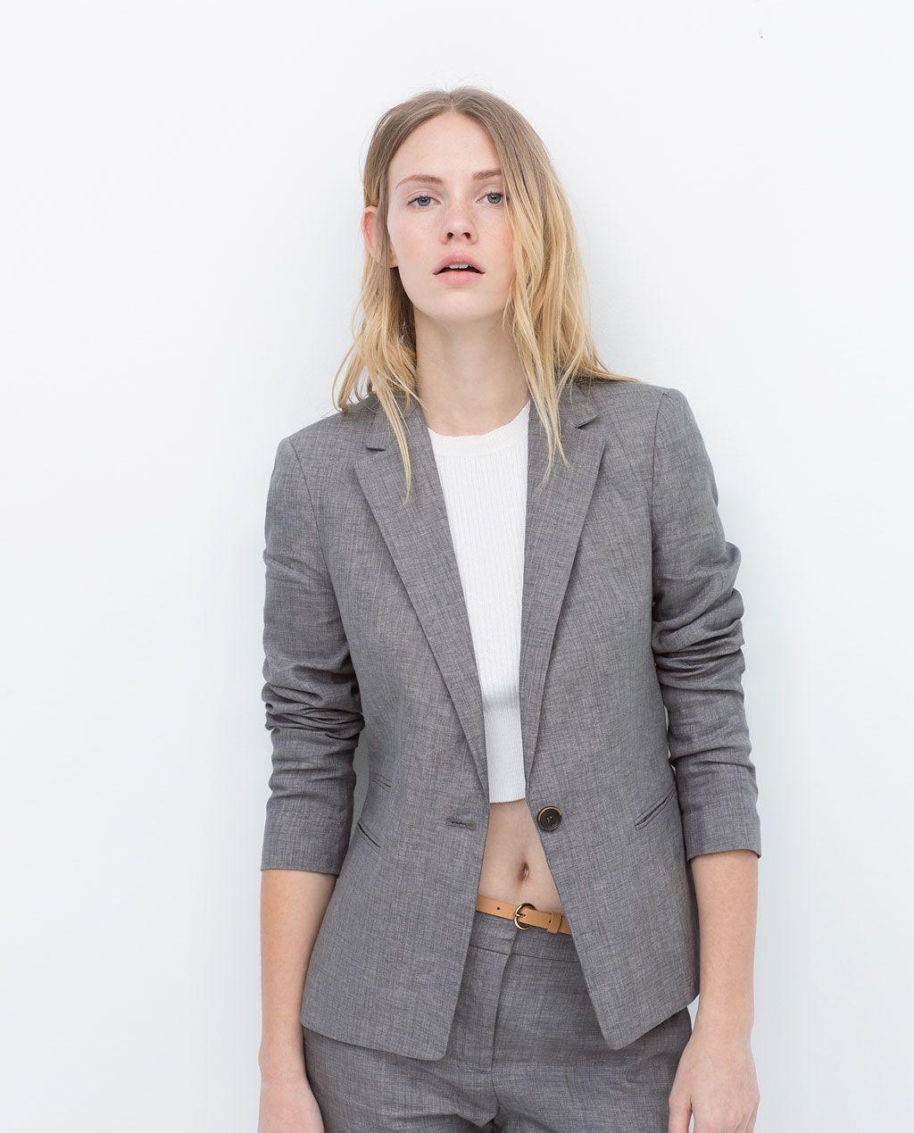 Trajes chaqueta de lino mujer