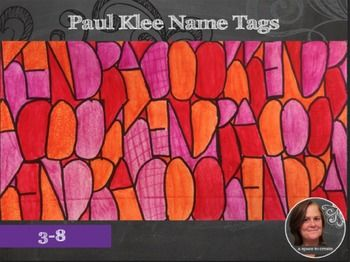 Color Schemes Name Tag Back To School Art Lesson Art Lessons