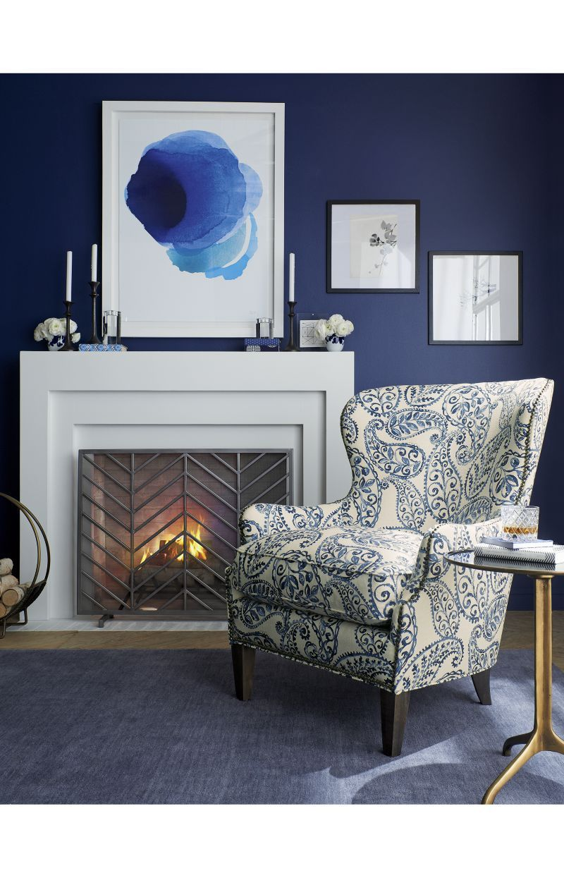 brielle wingback chair crate and barrel fireplaces pinterest