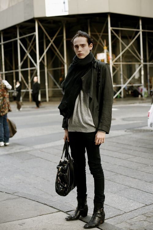 Androgynous male teens