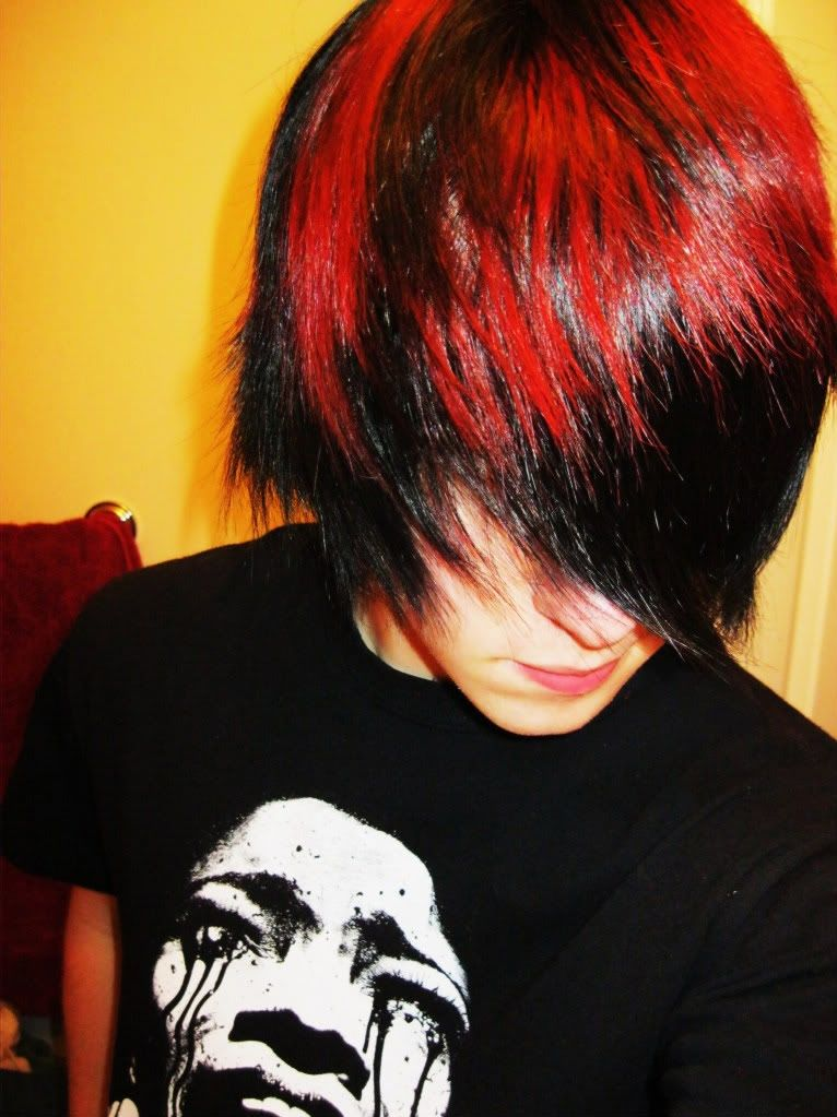 boy with dyed red hair - photo #9