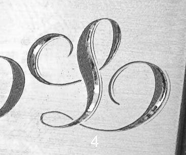 Sam Alfano's Tips & Tricks for Hand Engravers - Stippled Script