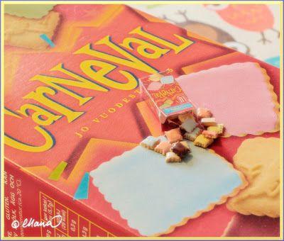 DIY- Nukkekoti Väinölä : Carneval keksien ohje