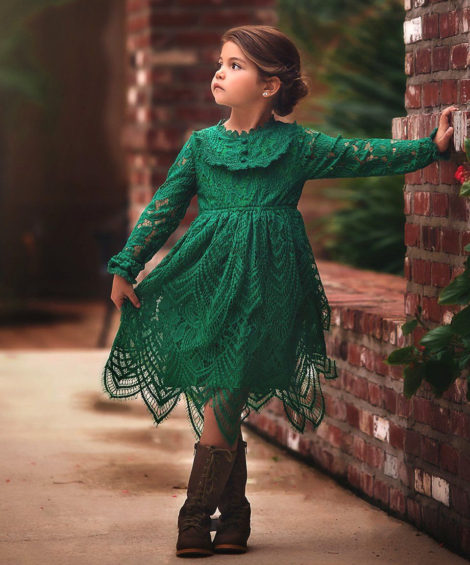 Take a look at this Emerald Abigail Dress - Infant, Toddler & Girls ...