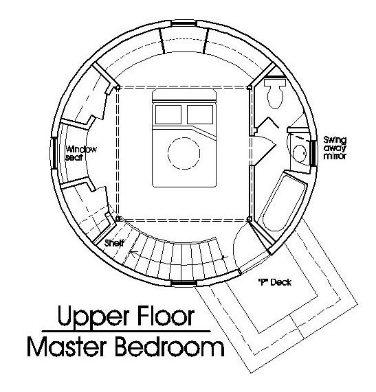Grain Bin Cabin Plan 2nd Floor 346 Sq Ft Round Floor