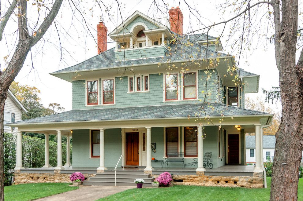 Craftsman chimney exterior victorian with window trim for Victorian house trim