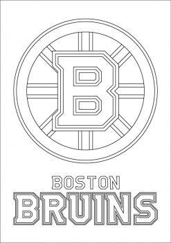 Boston Bruins Logo coloring page Boston Bruins Pinterest Logos