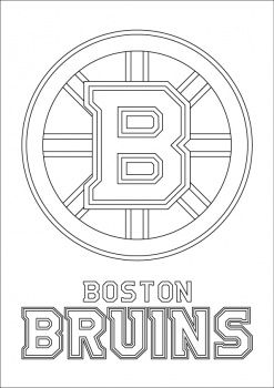Boston Bruins Logo Coloring Page Boston Bruins Logo Boston