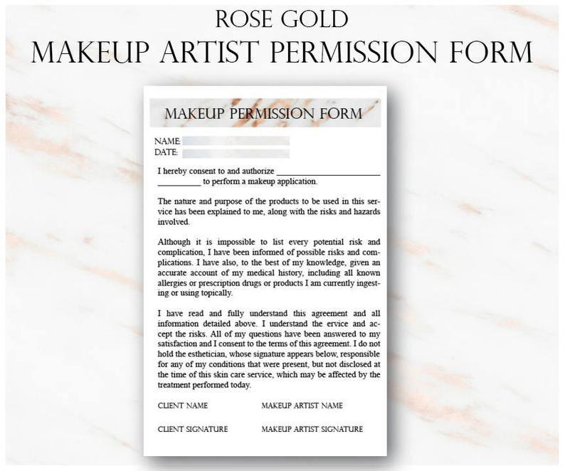 Client Questionnaire Freelance Makeup Artist Templates Freelance Makeup Artist Makeup Artist Business Client Questionnaire