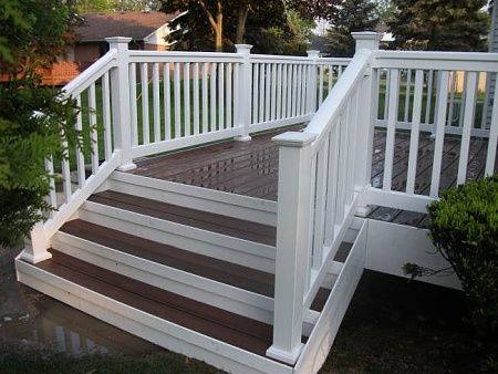 Best Trex Steps Deck Stair Railing Rustic Deck Stairs 400 x 300