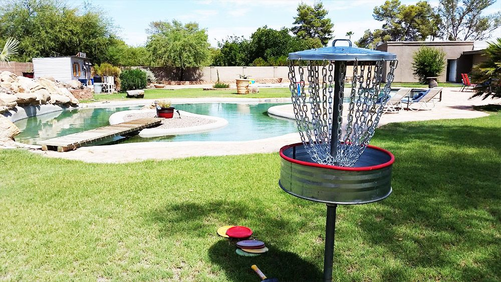 Disc golf goal all parts from lowes inexpensive disc