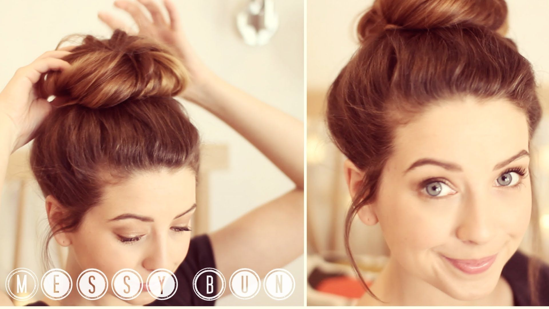 What Hair Style Is Right For Me: How To: Messy Bun By Zoella Messy Bun In Less Than 5